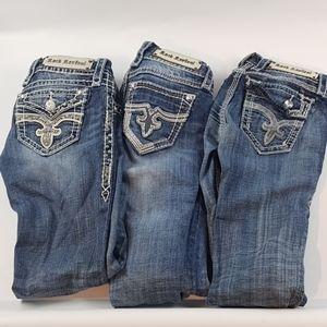 Rock revival 25 pants jeans lot